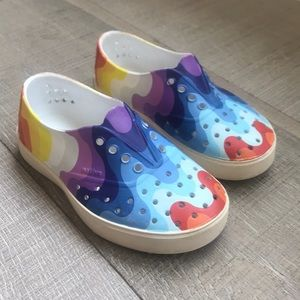Native Miller Slip Ons in Rainbow Wave